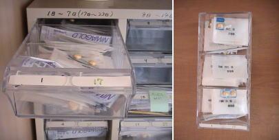 薬保存棚の写真