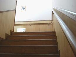 階段手摺り写真