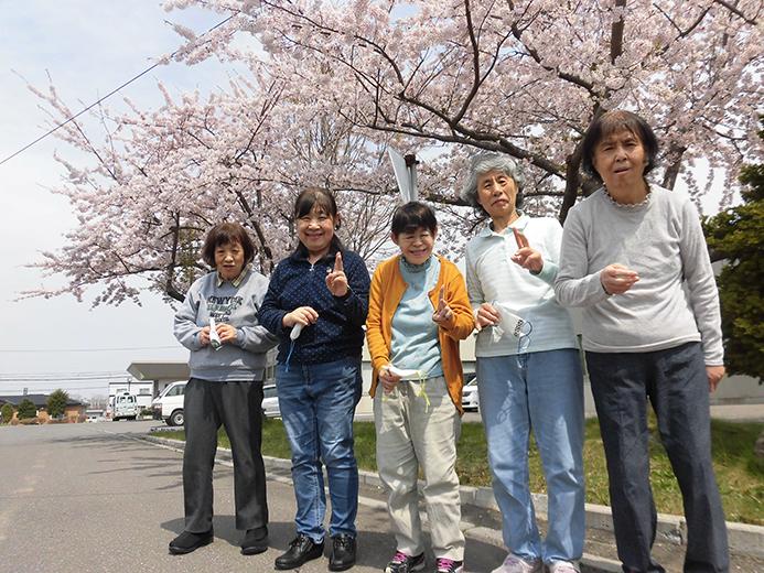 函館青年寮 散歩の時のワンショット
