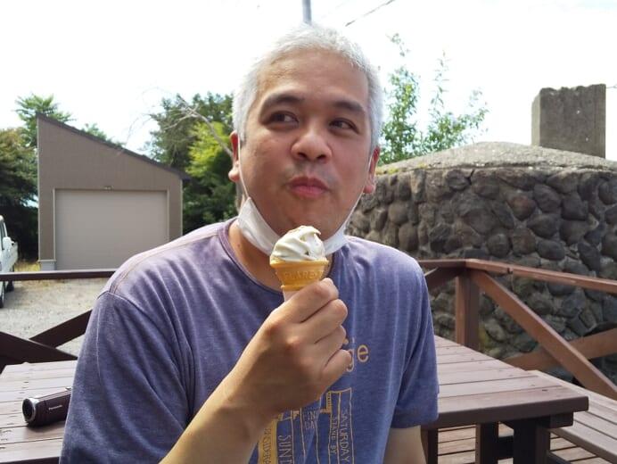 ワークセンターほくと ソフトクリーム屋で休憩