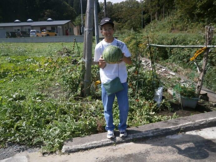 サポートかわつき 畑(スイカ)収穫