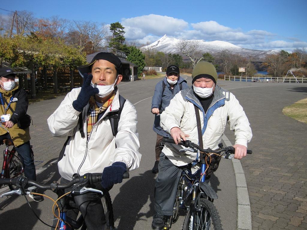 おしま菌床きのこセンター 大沼公園サイクリング