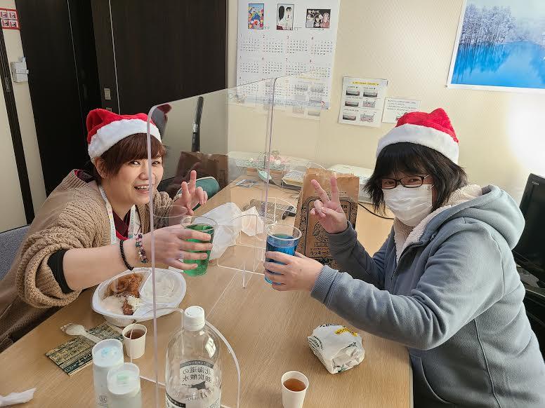 ワークセンターほくと「クリスマス食事会」