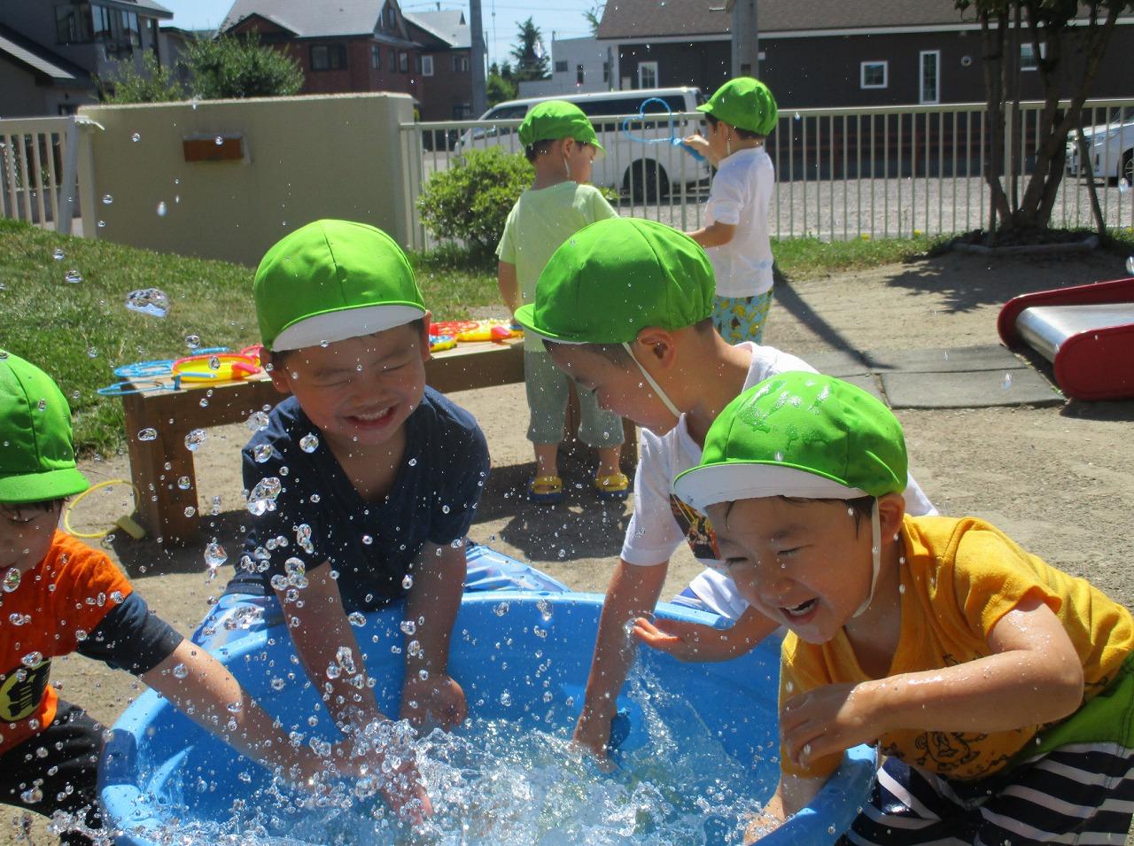 浜分こども園 「3歳児 水遊び」